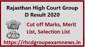 Rajasthan High Court Group D Result 2020